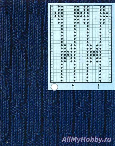 Узор 283 схема спицами